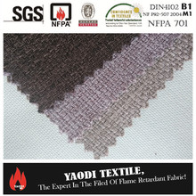 Wholesale 100% polyester inherently fire retardant sofa fabric