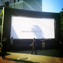 9*6m custom giant big outdoor advertising inflatable projector movie screens for sale