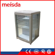 Eco-friendly SC68C commercial display cake refrigerator showcase glass display cabinet showcase