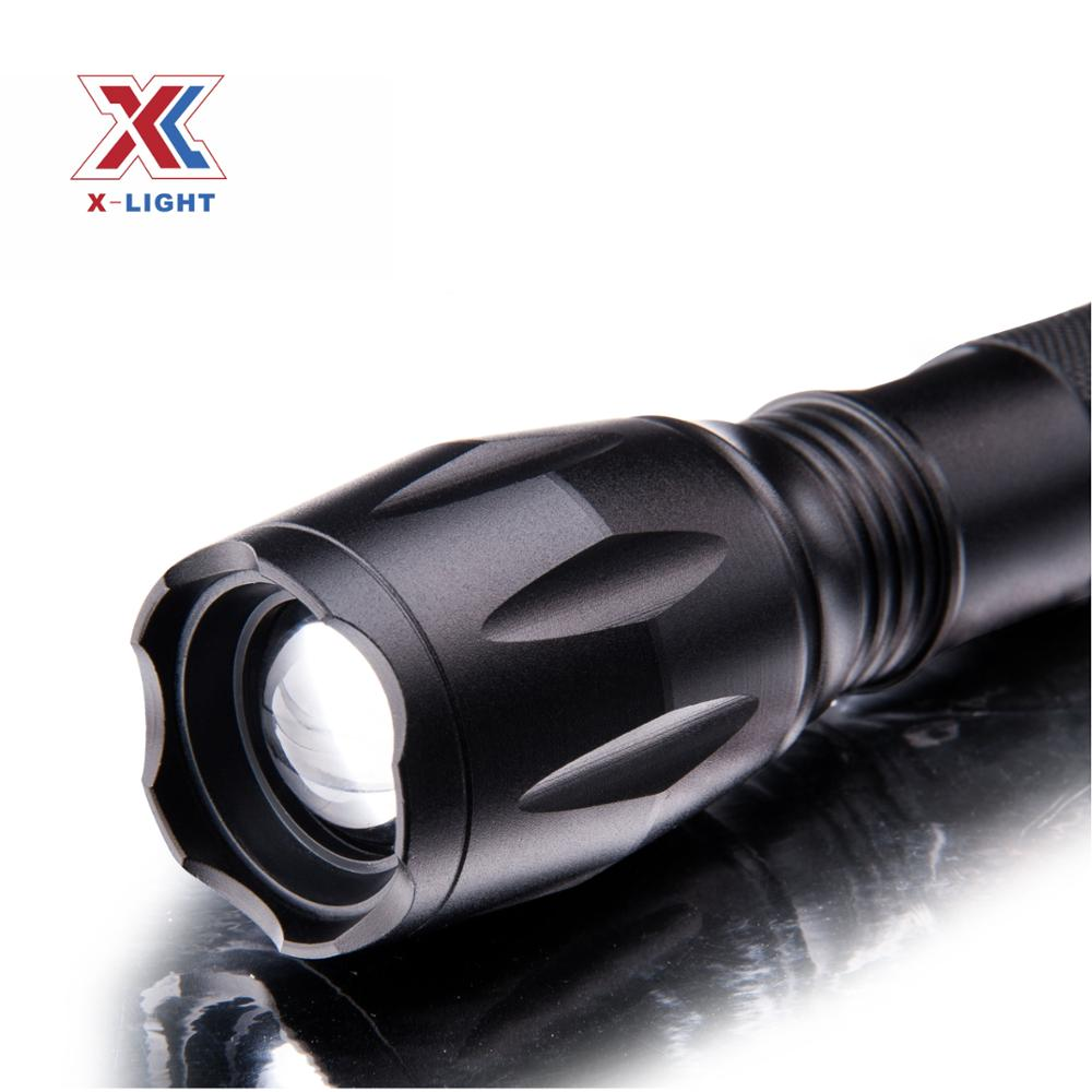 Military Aluminum Rechargeable Zoom xml T6 <strong>U2</strong> LED Flashlight Lantern
