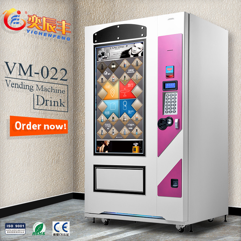 YCF-VM022 47inch lcd & touch screen vending machine/outdoor snack food vending machines/automat retail food vending machines