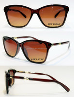 High Quality shiny polishing clear brown plastic frame fashion custom acetate sunglasses