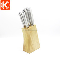 Pine/Acacia/ Oak wood type Popular wooden knife block set
