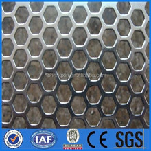 Hexagonal perforated metal sheet/perforated plastic mesh sheets/perforated fabric mesh from direct factory