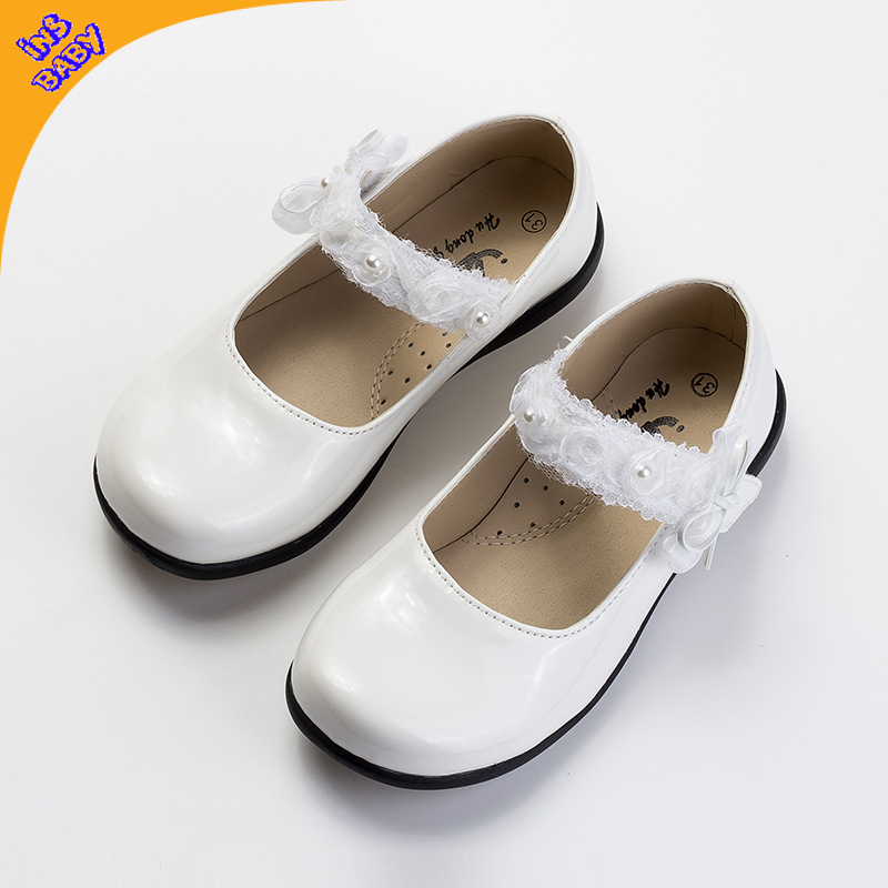 Children princess dance performance shoes children black and white female student shoes