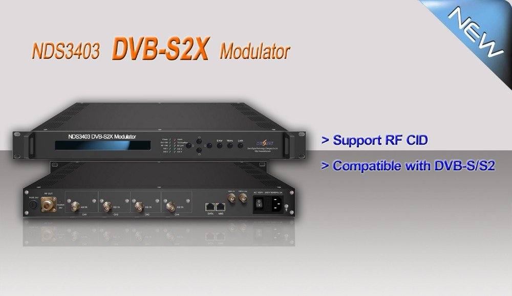 NDS3403 DVB-S/S2/S2X Modulator with biss