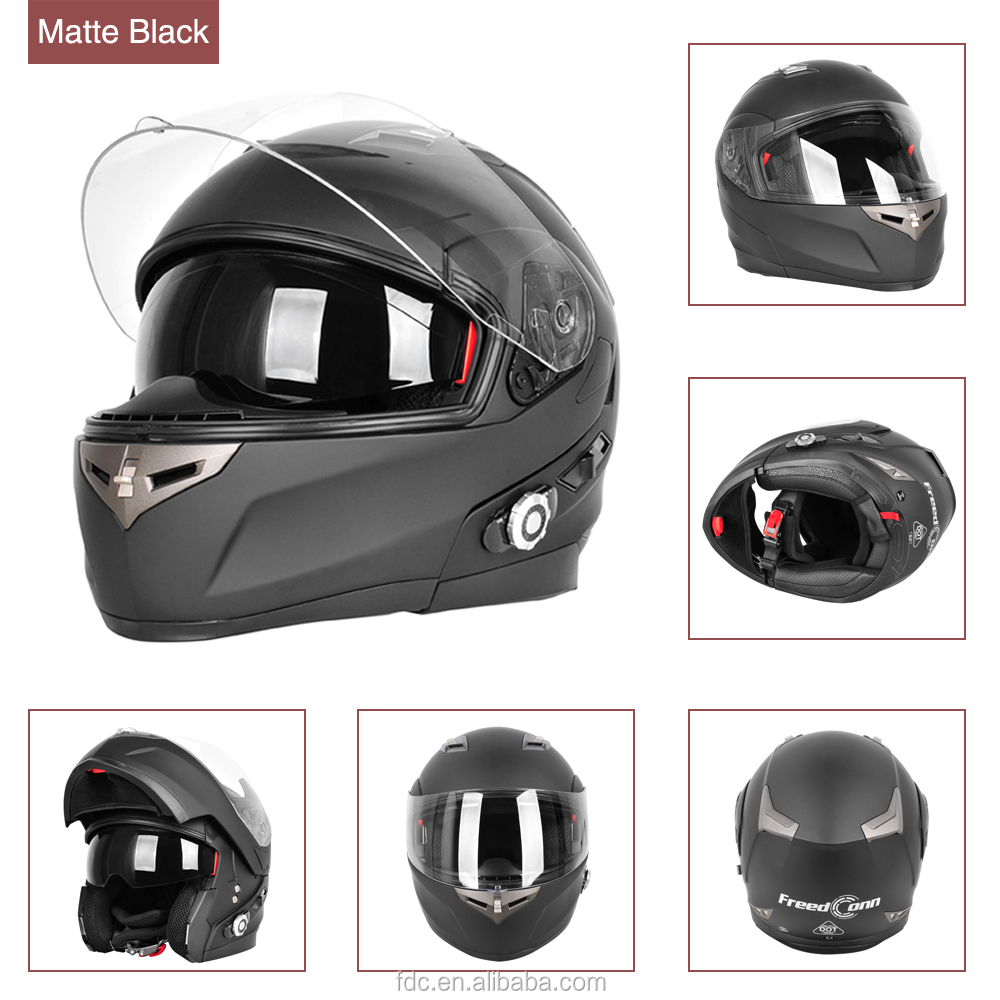 Factory wholesale top quality custom DOT bluetooth motorcycle full face helmet