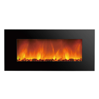 glass wall mounted frames imitation decorative electric fireplace