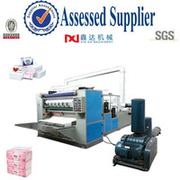 Automatic drawing perfume embossed folding hygiene facial paper machine