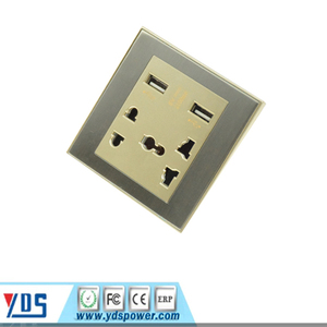 Double usb electrical switched socket universal wholesale hot modern wall socket with