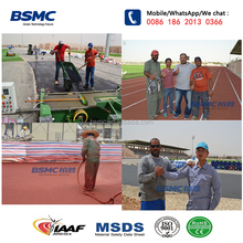 IAAF Certificate PU Water Base Plastic Runway For School And Stadium Sport Ground Surface Material