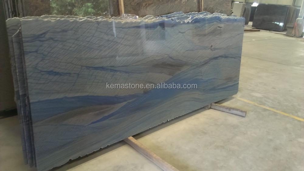 Brazilian Granite Slabs Wholesale : Blue azul macaubas granite slab for wholesale buy