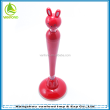 Cute cartoon rabbit shape stand pen with sucker