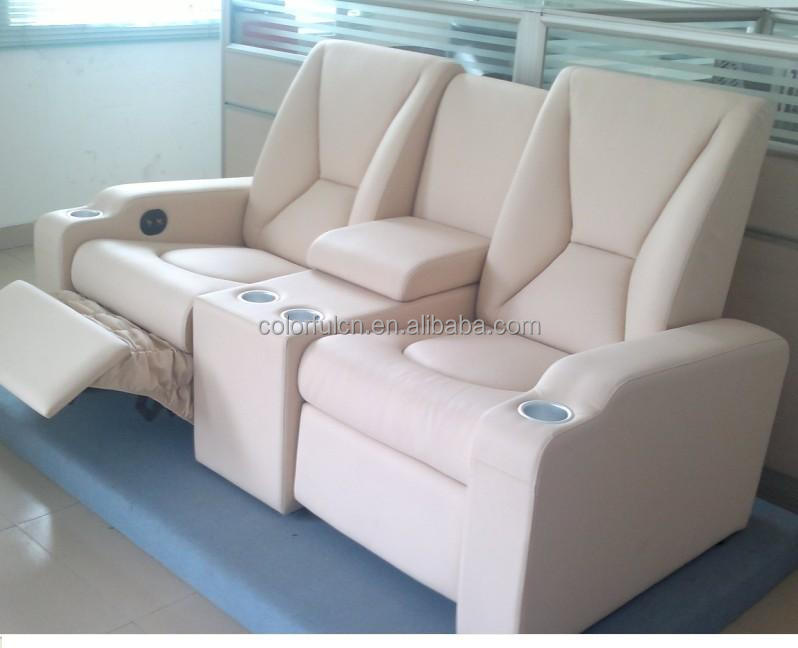 Leather recliner sofa home recliner sofa genuine leather recliner sofa with cold cup holder and Loveseat with cup holders