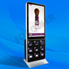 USB Flash Drive+ Network LCD Digital Signage Display Multi Phone Charging Station Kiosk