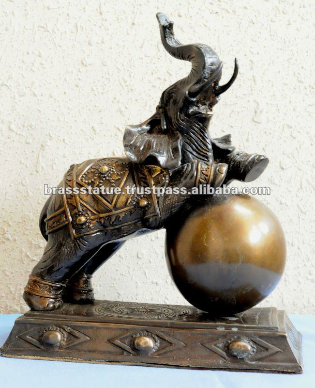 Exporters manufacture of bronze Metal Art - Elephant Figure