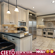 American style Guangzhou cabinet supplier ready made solid wood I shaped modular simple kitchen designs for small kitchens