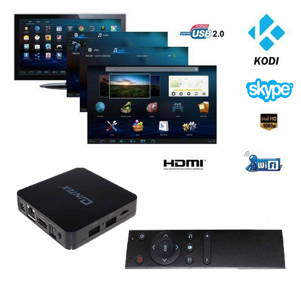 HOT Promotional Q05 Amlogic S805 Quad-Core 4k*2k HD media player transmisor de tv digital live video tv box