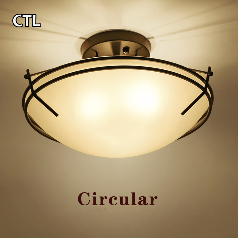 China manufacturer round ceiling lamp modern bedroom glass ceiling light