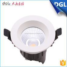 High Lumen new design round cob led dimmable downlight 9w with CE ROHS Approval