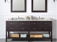 Double sink vanity/ wood vanity cabinet/ antique bathroom vanity sets