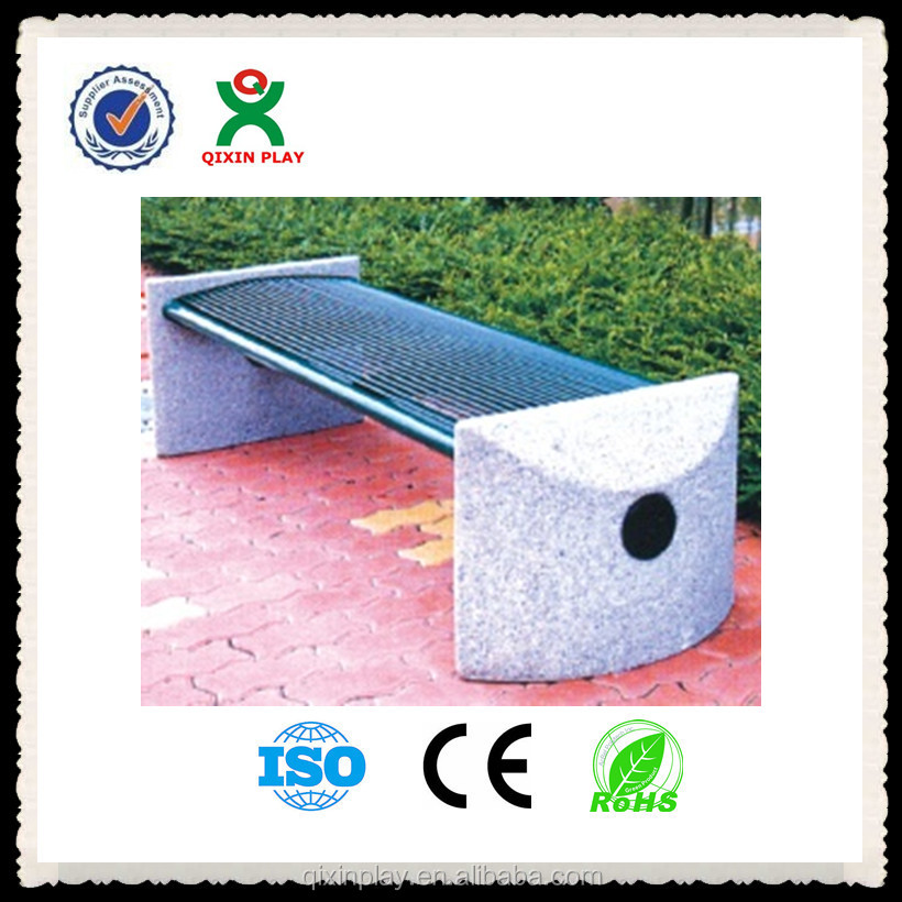 Outdoor stainless steel seating bench stainless steel bench wholesale QX-145G
