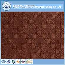 Hot Selling 100% Polyester Wadding Fabric Non Woven Quilted Embroidery Cloth Fabric Wholesaler