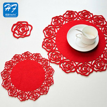 High Quality Fashion 100% Polyester Felt Table Setting Placemat