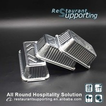 Restaurant hot food rectangular full size deep steam aluminum foil container