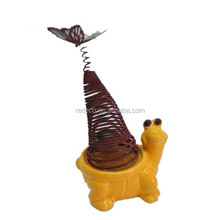 Garden decorative ceramic snail with metal shell