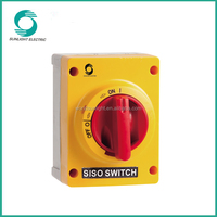 IEC60947-3 and IEC60269-2 IP66 waterproof double pole isolating disconnect switch