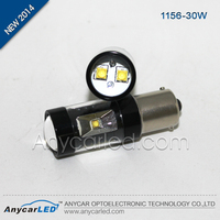 Wholesale turning LED auto light CE ROSH certification black aluminum S25 1156 BAU15S BA15S 30w car light