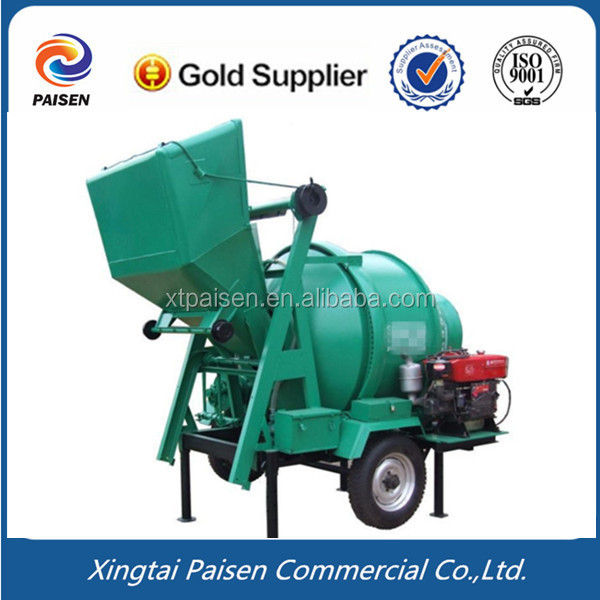 diesel motor automatic cement stone mix machine/ stone concrete mixer for saudi arabia