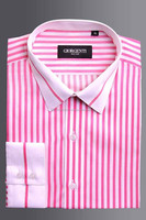 Mens Fashion Designer Shirts with collar and cuff trimming