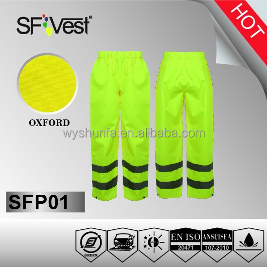 high visibility man work trousers reflective safety pants with reflective stripes