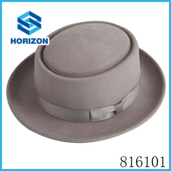 Different solid color porkpie hats 100% Australia wool high quality bowler hat