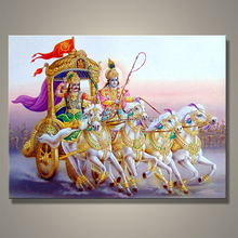 High quality best price mahabharat oil painting for Indian