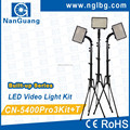 Nanguang Professional Built-up Series 90W CN-5400Pro 3Kit+T Portable LED Video Lighting Kit Ra 95