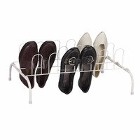 white color 9Pair Wire Shoe Rack