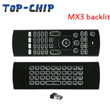MX3 Backlight wireless keyboard 2.4G Wireless remote control IR learning MXIII Fly Air Mouse Backlit For Android