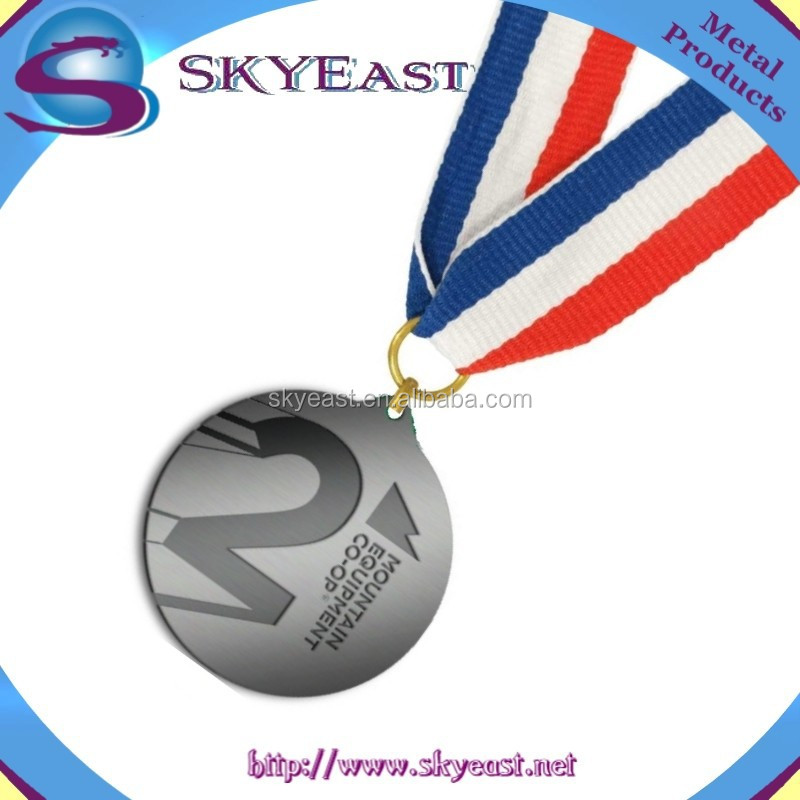 Customized Antique Engraved Logo Sport Metal Medals with Ribbon