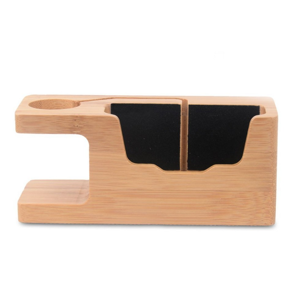 Watch Stand wooden for Apple, Bamboo Wood Charging Bracket Docking Station Stock Cradle Holder for iPhone and Apple watch stand
