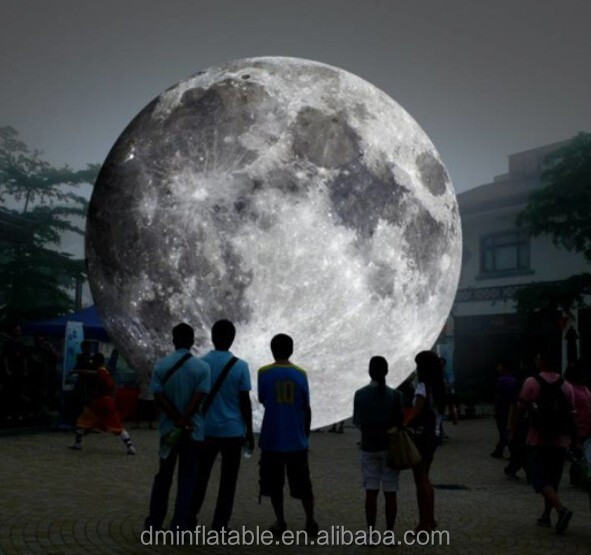 custom inflatable MOON model/inflatable planet balloon/MOON for exhibition