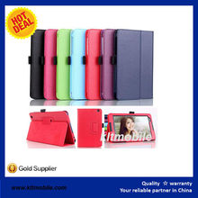 Factory wholesale new design leather cover flip case for lenovo a3500