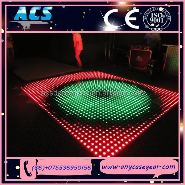 ACS dj equipment! RGB color animated led dance floor, LED starlit sparkly dance floor for sale