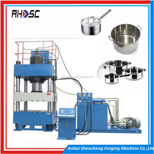 ahsc H frame gantry hydraulic press for workshop/wood pallet feet block press machine