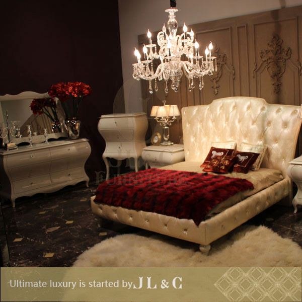 JB05-03 solid wood bedroom furniture home furniture bed sets in bedroom from JL&C luxury classic home furniture