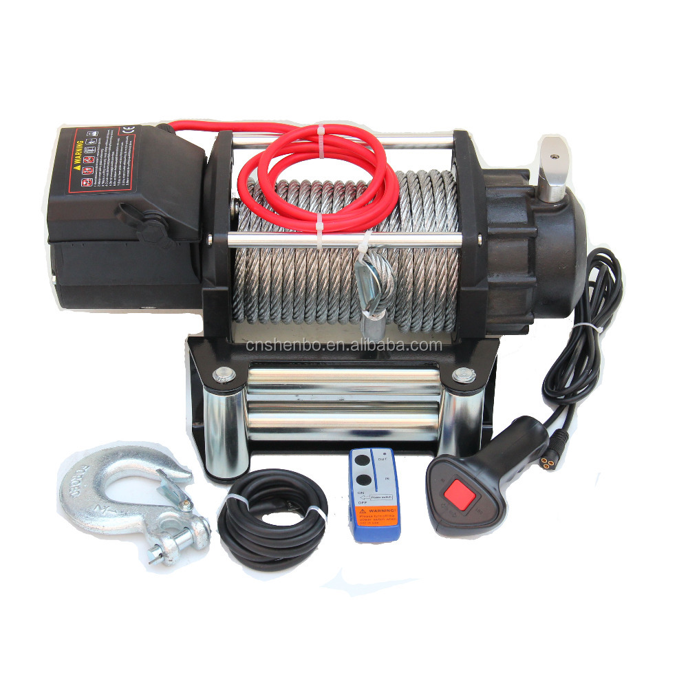 Electric Heavy Duty Recovery Winch - 17000 lbs Capacity - Wired Remote Control