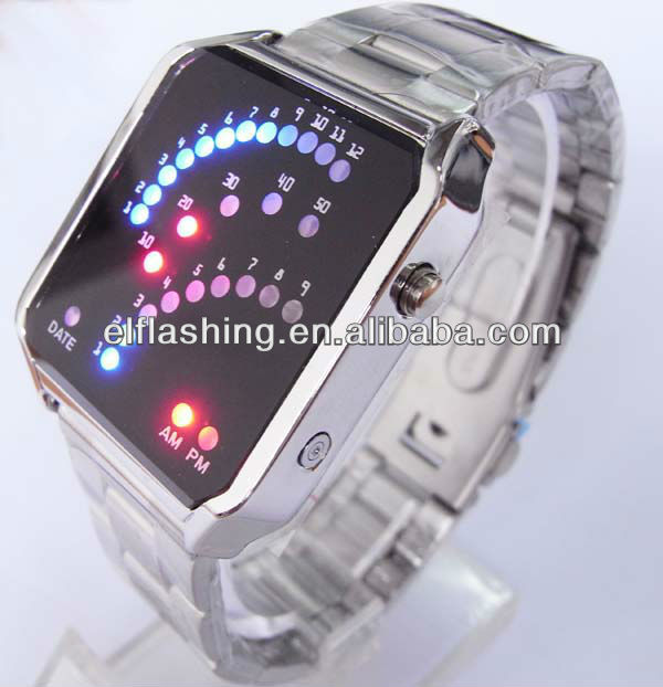 LED digital watch flashing led watch