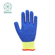 Nature Wrinkle Latex Palm Cotton Working Safety Glove